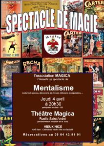 Spectacle Magica Mentalisme cercle des magiciens de la Côte d'azur
